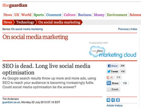 SEO is dead, if you ignore all that growth