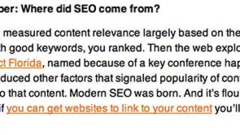 SEO advice from a PR firm