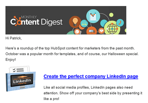 Hubspot Newsletter