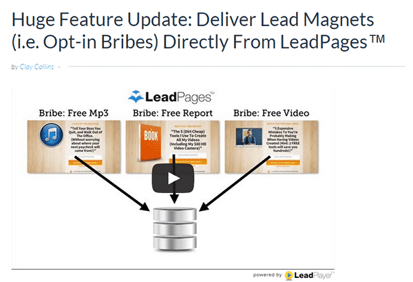 LeadPages Opt-in Bribes