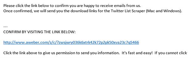 Twitter Scraper Email